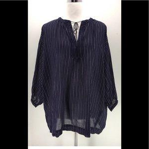 Madewell Women Stripe Design Blouse Size Small